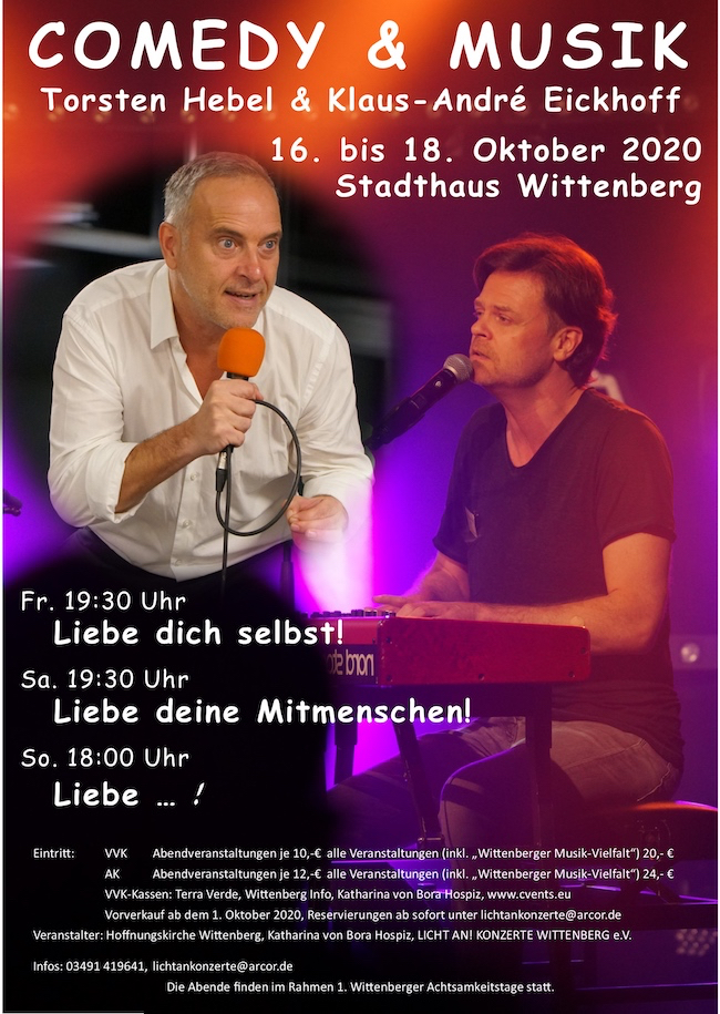 """Comedy & Musik """"Liebe dich selbst"""""""