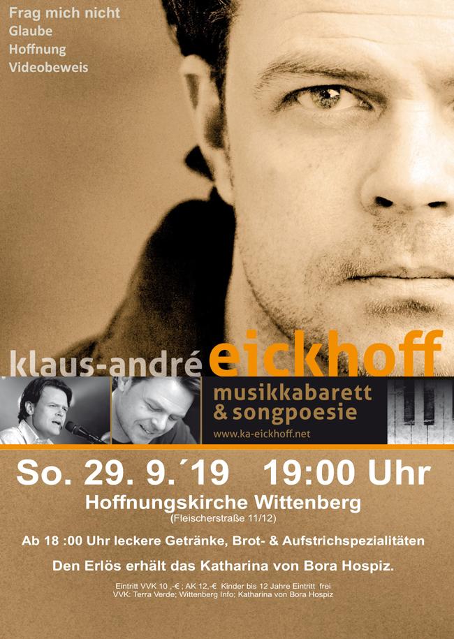 "Klaus André Eickhoff Musik-Kabarett ""Frag mich nicht"