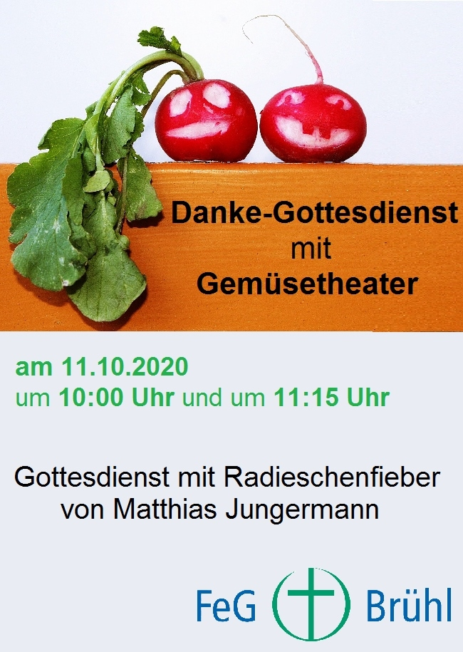 Danke-Gottesdienst mit Gemüsetheather