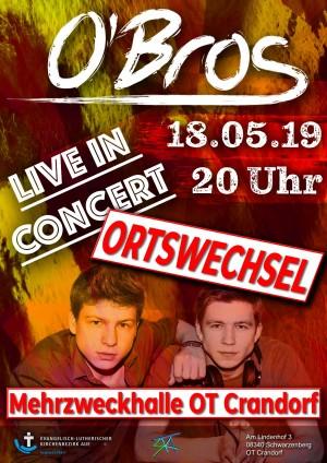 Konzert O'Bros Schwarzenberg/Crandorf